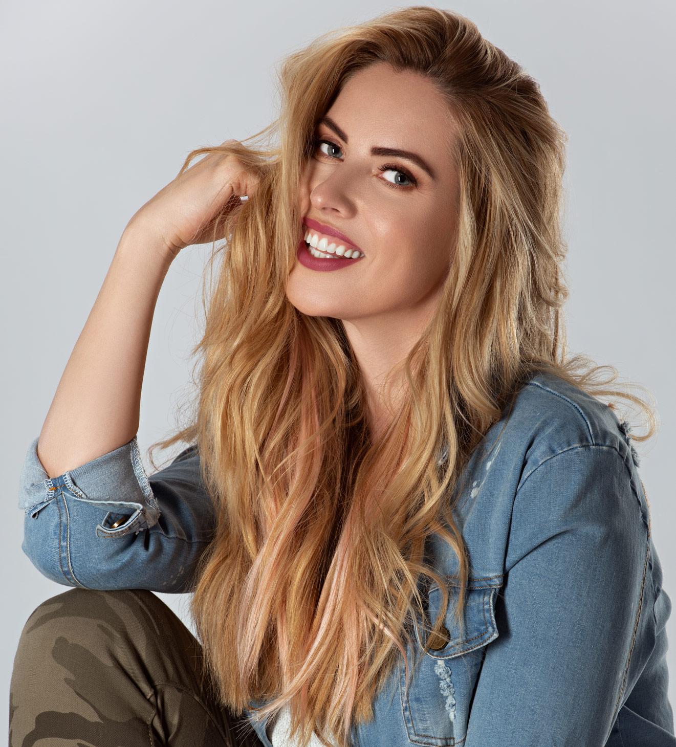 headshot of a model for hair salon