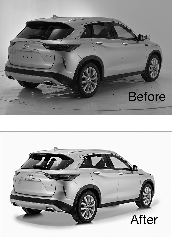 car photography retouching
