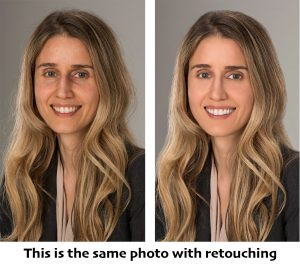 Business headshot retouching Photoshop