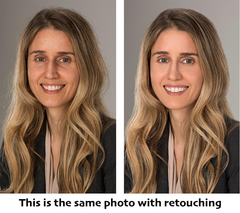 Business headshot retouching Photoshop