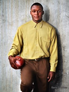 photo Barry Sanders NFL Hall of Fame