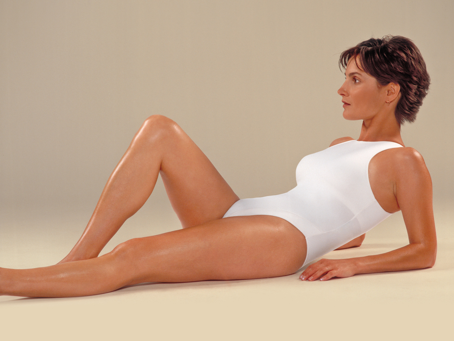 fashion model in swimsuit apparel