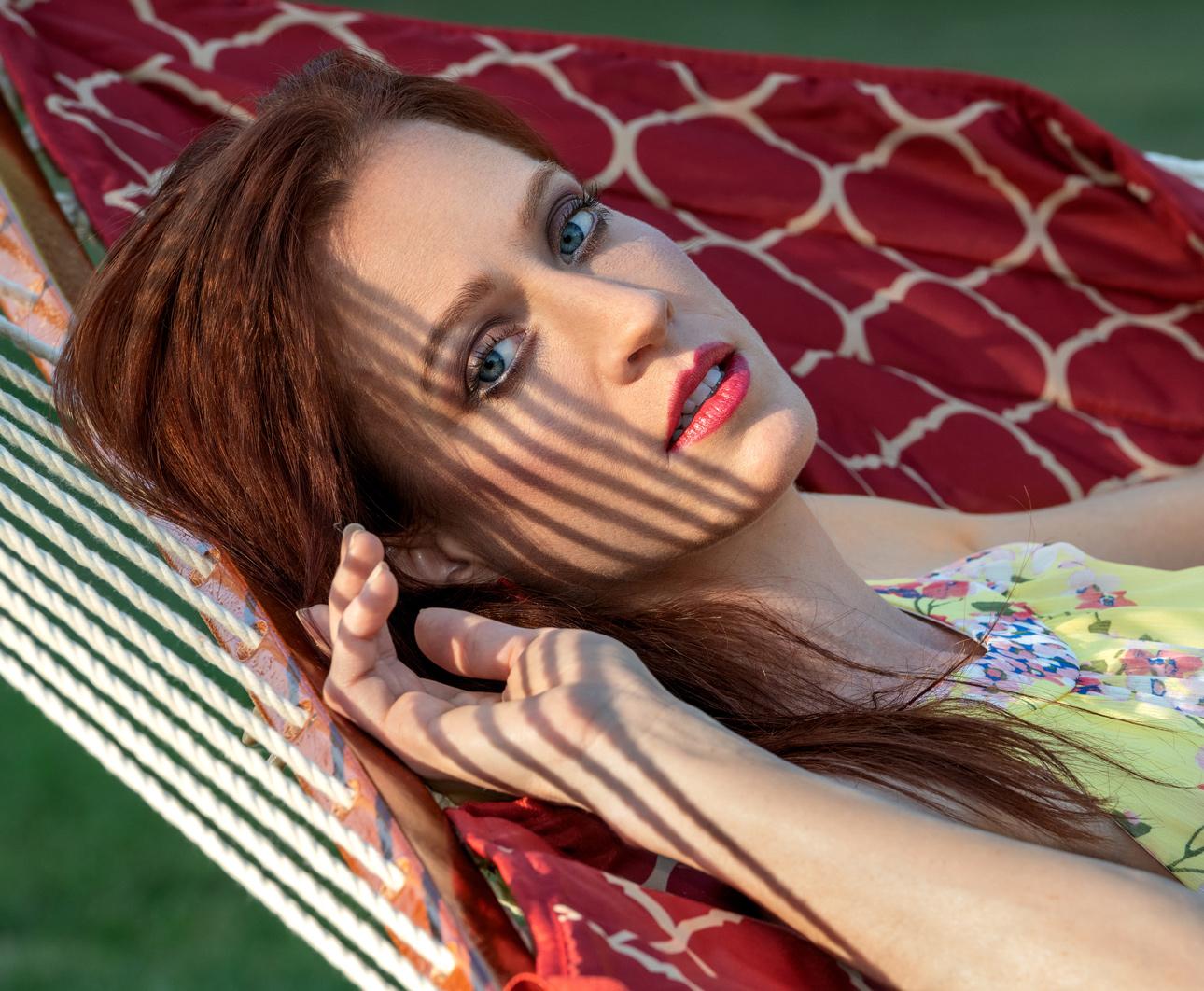 creative headshot of model actress