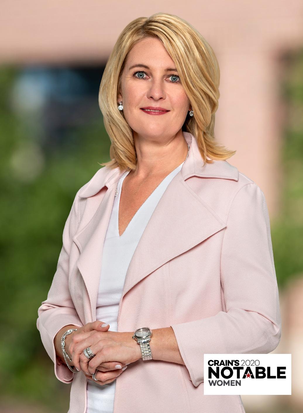 outdoor headshot of female executive